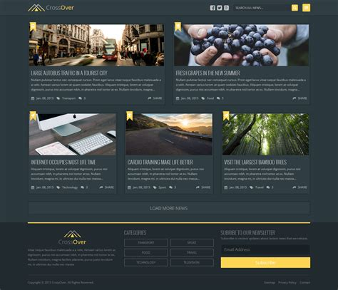 free bootstrap wordpress themes 2015 free bootstrap dark homepage crossover theme 2015