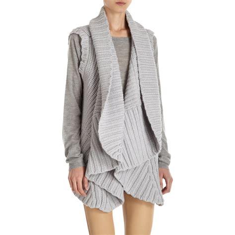 grey knit vest by knit vest in gray grey lyst