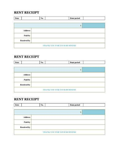 receipt template page 10 free rent receipt templates