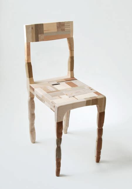 Patchwork Wood Furniture - wood waste scraps for beautiful patchwork furniture series