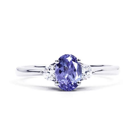 Tanzanite Engagement Rings by Paragon 18ct White Gold Tanzanite And Engagement