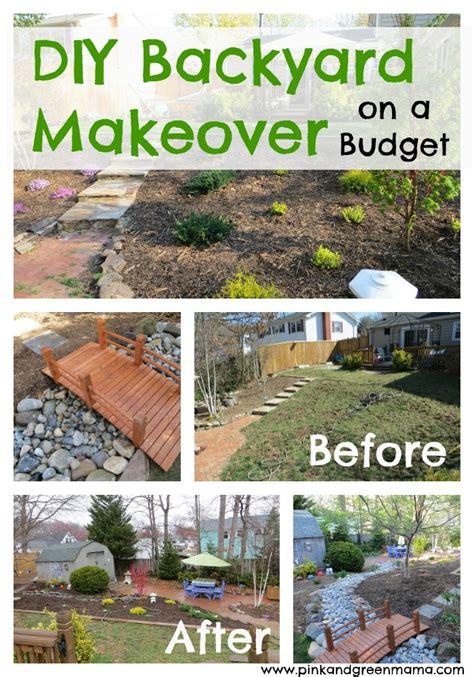 diy backyard landscaping on a budget pink and green diy backyard makeover on a budget