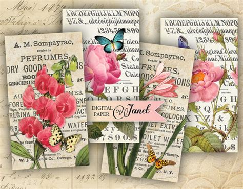 Wedding Bouquet Extract bouquet extract digital collage sheet set of 10