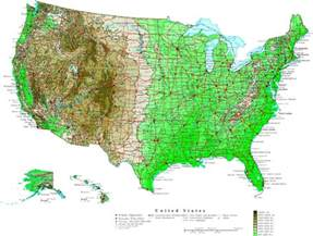 United States Population Map by Usa Map Map Of World