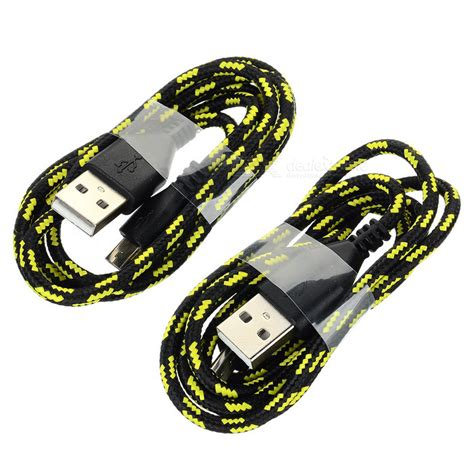 Samsung V8 Braided Micro Usb Cable 1 Meter Purple usb 2 0 to micro usb v8 braided charging cable black yellow 2pcs free shipping dealextreme
