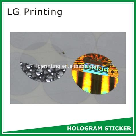 printable hologram stickers hot selling printable hologram sticker with ce certificate