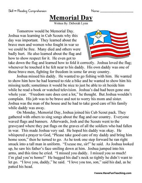Day Grade Worksheets by Second Grade Reading Comprehension Worksheet Memorial