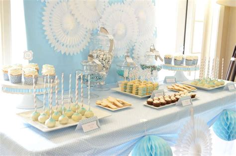 banchetto battesimo baby blue and silver grey baptism ideas photo 3