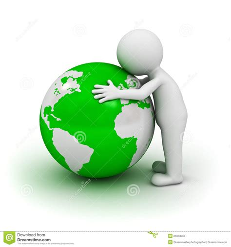 House Plans Free Download by 3d Man Hugging Green Globe Stock Illustration