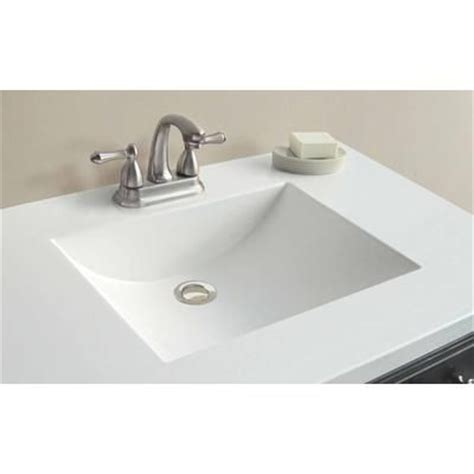 Woodnote Vanity Top by Woodnote 37 Inch W X 22 Inch D White Cultured Marble