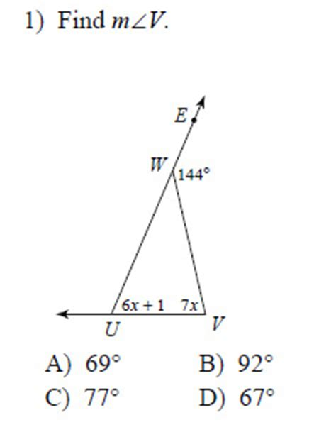 Worksheet Triangle Sum And Exterior Angle Theorem Answers by Exterior Angle Worksheet Calleveryonedaveday