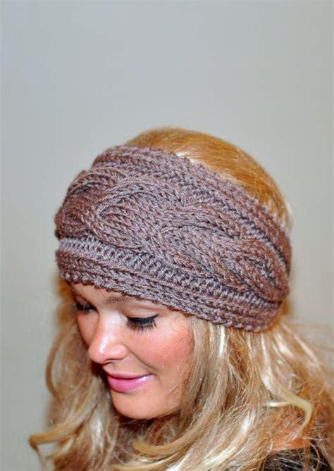 winter headbands pattern earwarmer cabled ear warmer winter crochet headband chunky
