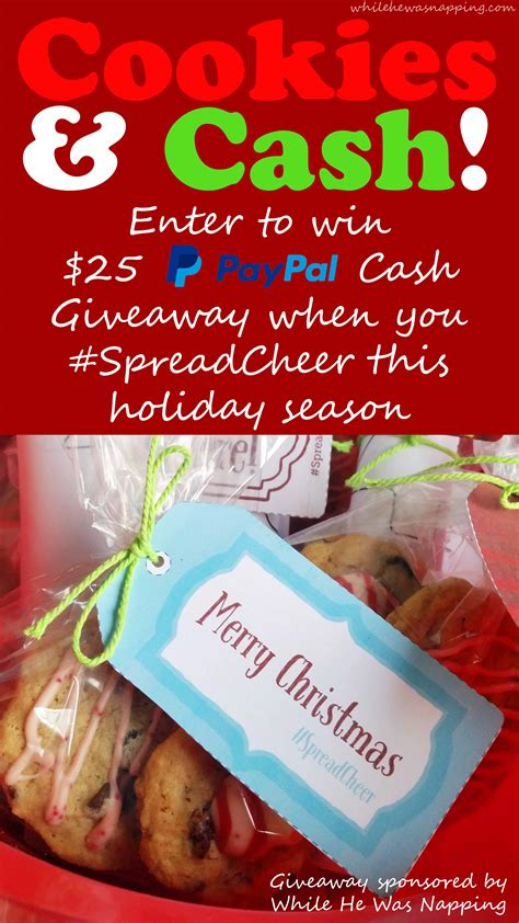 Cheer Giveaway - spread cheer this holiday season 25 paypal giveaway free printables while he