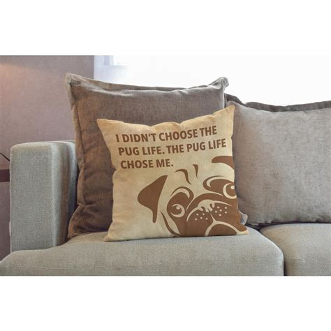 pug chose me pug chose me 18 in x 18 in reversible pillow 74784pl18 the home depot