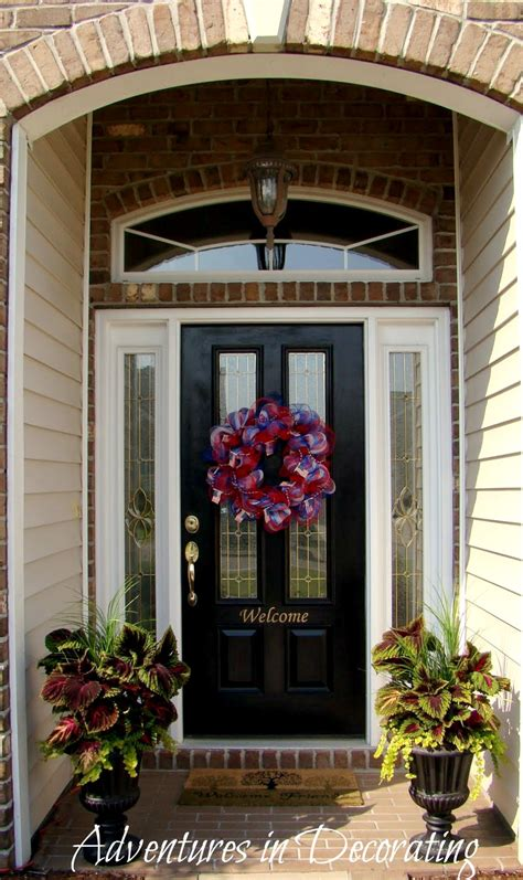 Front Door Decorations For Summer Adventures In Decorating Former House Tour