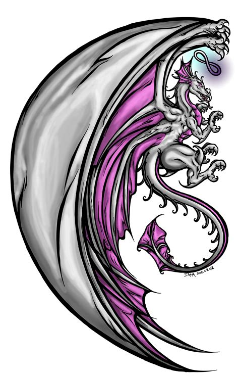 dragon angel tattoo and cafe sketches neon skies studio