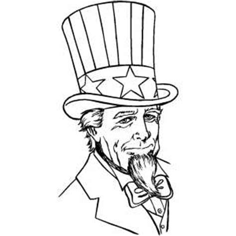 coloring page uncle sam serious uncle sam coloring page