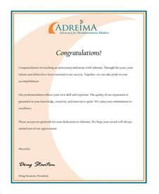 Service Recognition Letter 31 Sle Service Letters