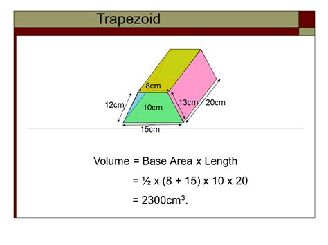 volume of trapezoidal section equation of a trapezoidal prism volume pictures to pin on