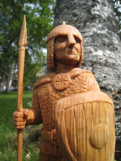 ales  woodcarver june  slavic warrior