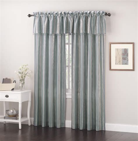 Silk Valance Faux Silk Valance Striped Window Embellishment And Kmart