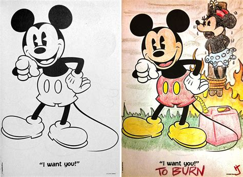 hilarious coloring book corruptions see what happens when adults do coloring books part 2