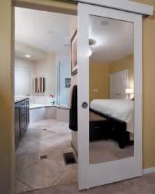 sliding door in bathroom wall mounted sliding door quot reflects quot genius design idea