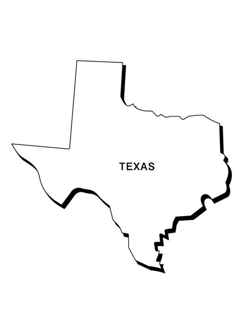 free coloring pages of texas map outline
