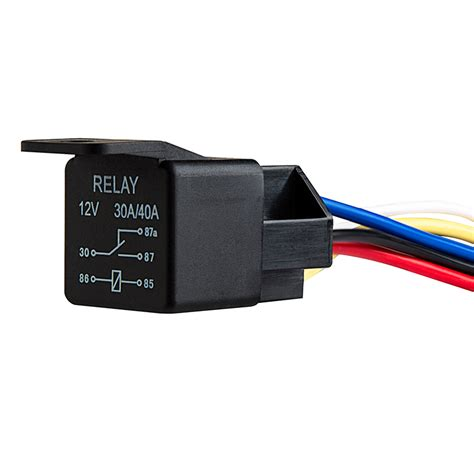 Socket Relay Universal 12v dc 30 40a 5 pin universal relay wire harnesses relays switches relays sensors