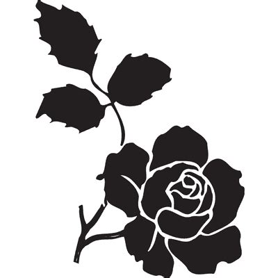 printable stencils rose free printable flower stencil templates cliparts co