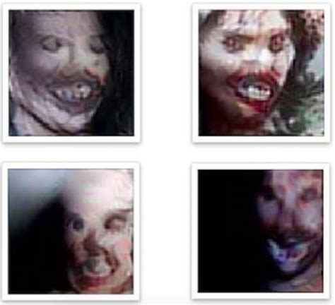 Scariest Faces by A Nightmare Machine Generates The Scariest Images