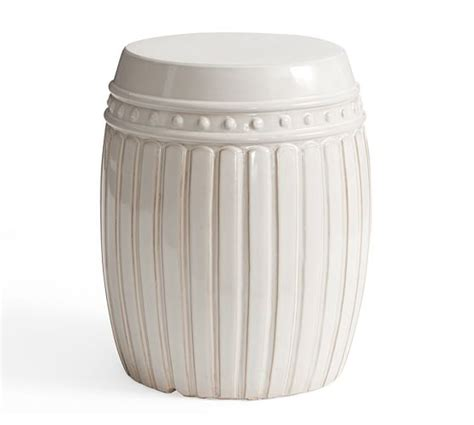 pottery barn accent tables reeded ceramic accent table white pottery barn