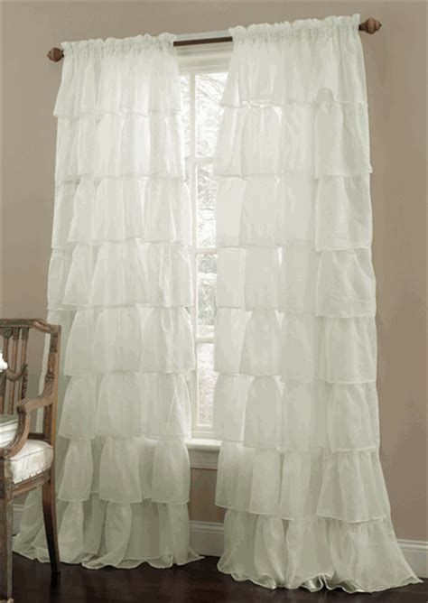 swags galore curtains gypsy ruffled sheer curtains cream lorraine home