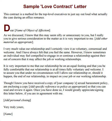 relationship agreement template marriage contract template 7 free documents in