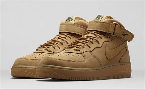 Nike 1 Mid Flax Premium Originalsepatu Nike One Brown nike air 1 mid wheat le site de la sneaker