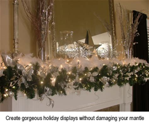 How To Hang A Garland On Fireplace by Garland Grabbers For Mantles M800021 Free Shipping