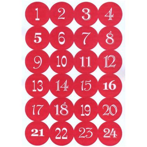 Baker Table Autocollants Chiffres 1 224 24 Calendrier De L Avent