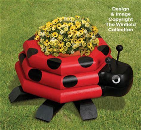 planter woodworking plans landscape timber ladybug