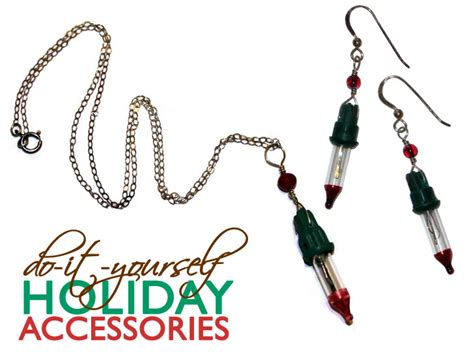 diy christmas lights jewelry ecouterre