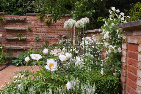white flower garden white flowers in garden roses peony alliumd plant