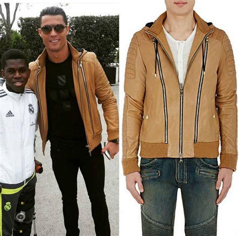 Jaket Bomber Black Wp Real Madrid cristiano ronaldo s instagram balmain leather hooded