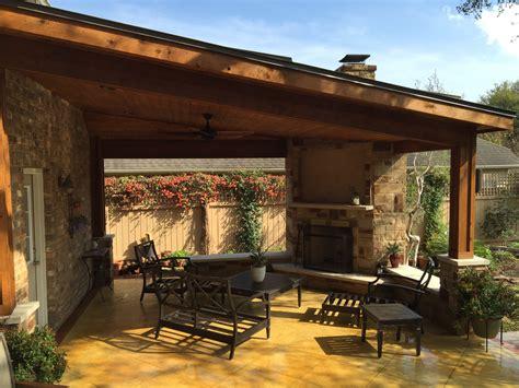 outdoor fire place austin decks pergolas covered