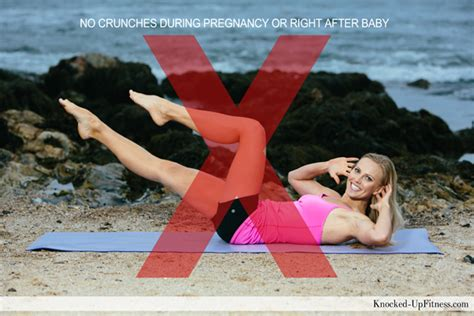 avoid crunches during pregnancy and postpartum