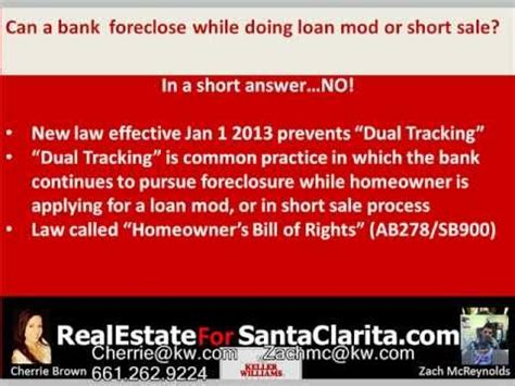 civil code section 2924 can my bank foreclose while doing a loan modification or