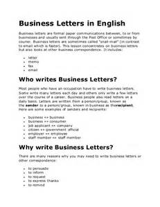 Business Letter Samples English Business Letters In English
