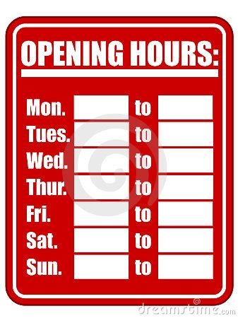 Business Hours Sign Template Business Letter Template Opening Hours Sign Template
