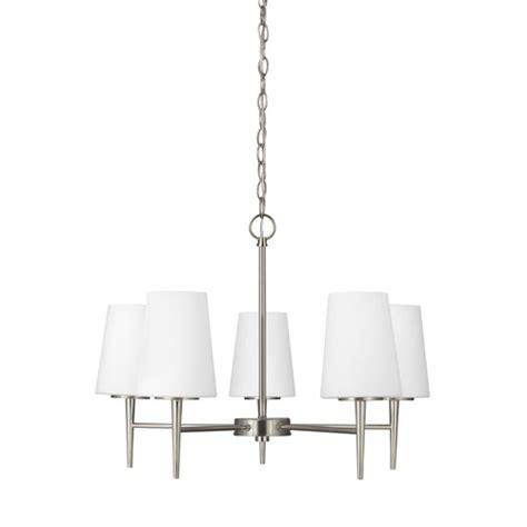 sea gull lighting driscoll brushed nickel energy star led modern brushed nickel chandelier bellacor