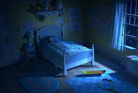 bedroom movie story were there self aware toys in monsters inc all along