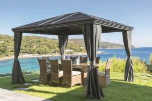 tonnelle de jardin design pergola parasol paravent