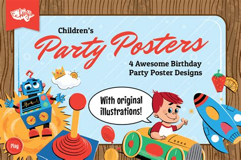 free templates for birthday posters children s birthday party posters design templates